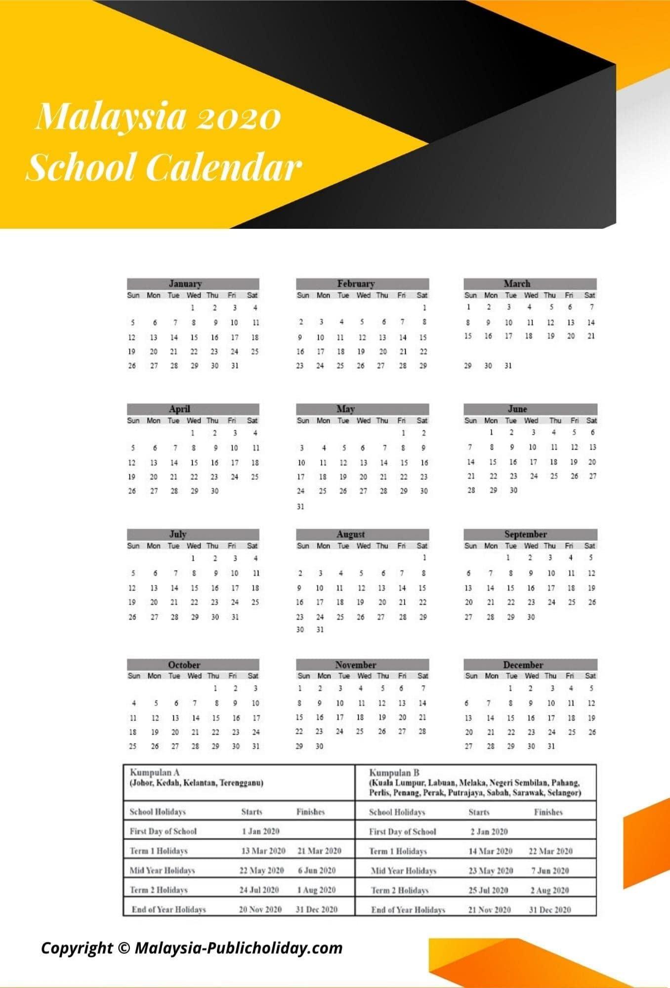 Malaysia School Holiday 2020