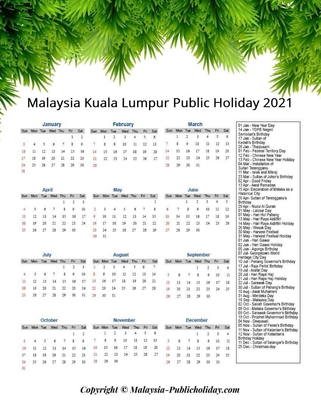 Kuala Lumpur Holiday 2021 Malaysia