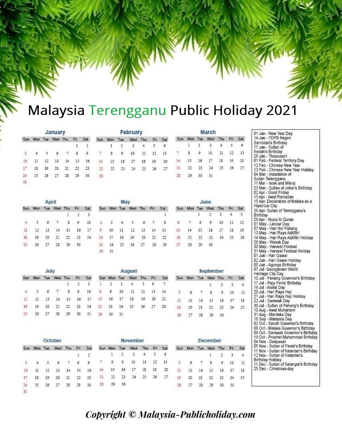 Terengganu Holiday 2021 Malaysia